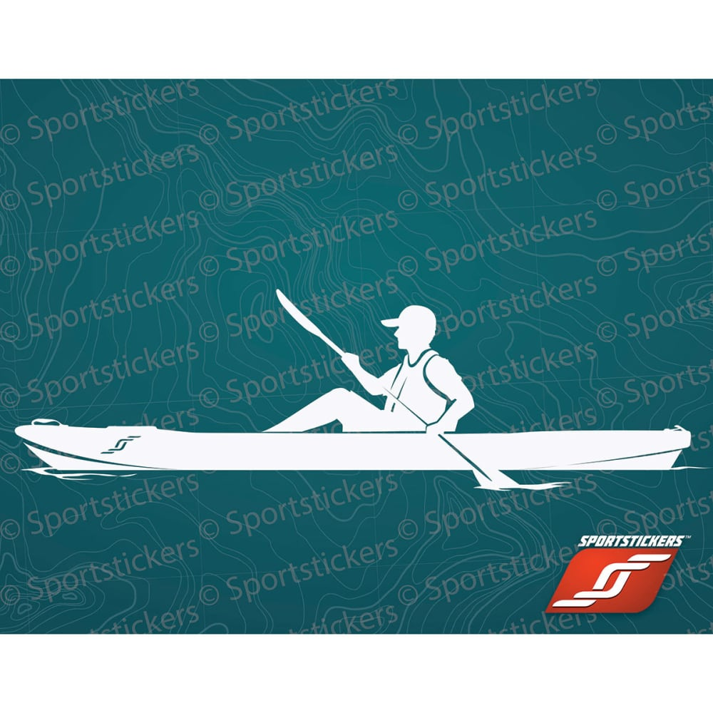 SPORTSTICKERS Sit-On-Top Kayaker, White - WHITE