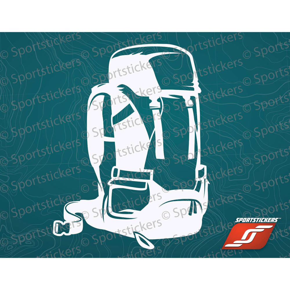 SPORTSTICKERS 55 L Backpack, White - WHITE