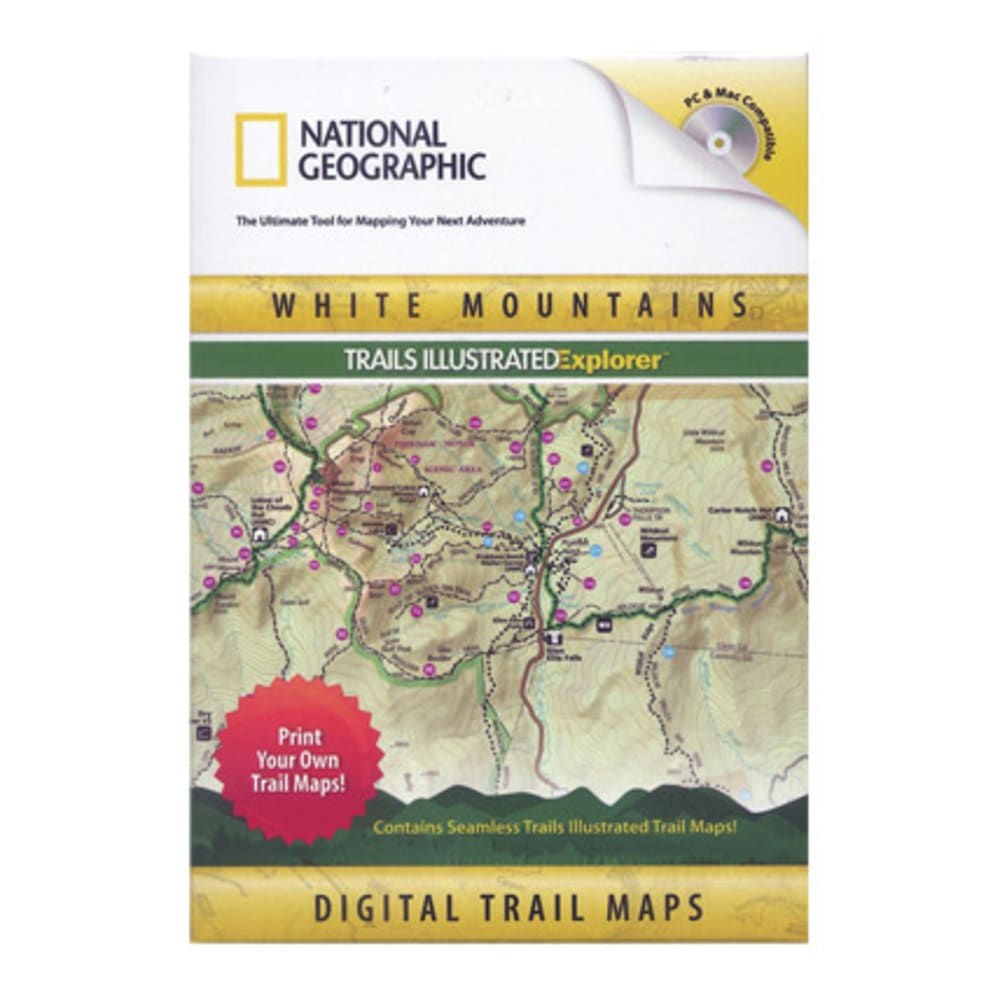 National Geographic White Mountains Trails Illustrated Explorer CD-ROM