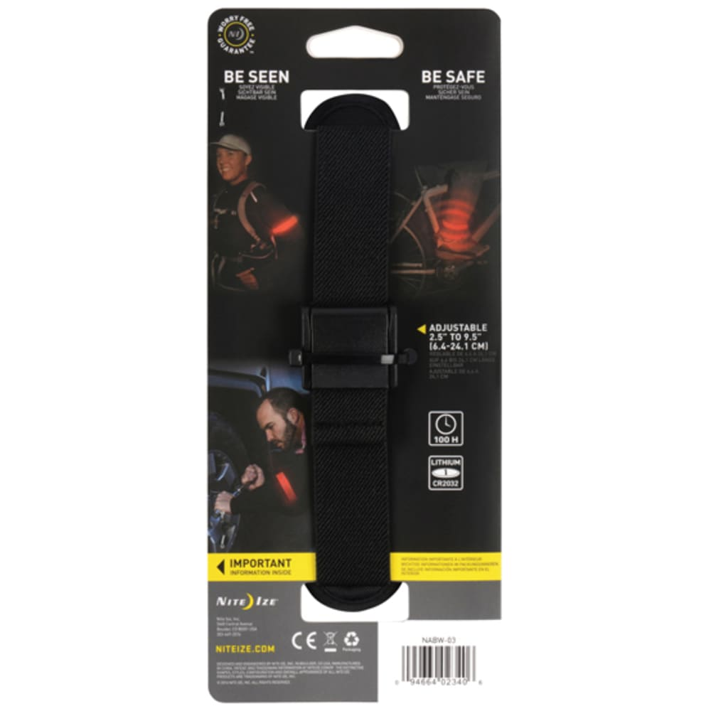 NITE IZE SlapLit LED Strap - BRIGHT RED