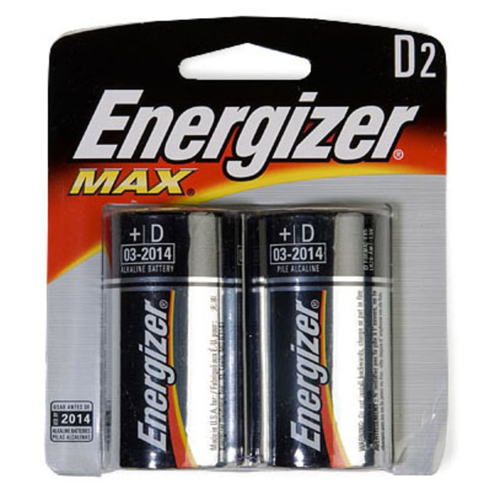 ENERGIZER D Batteries, 2-Pack - ONE