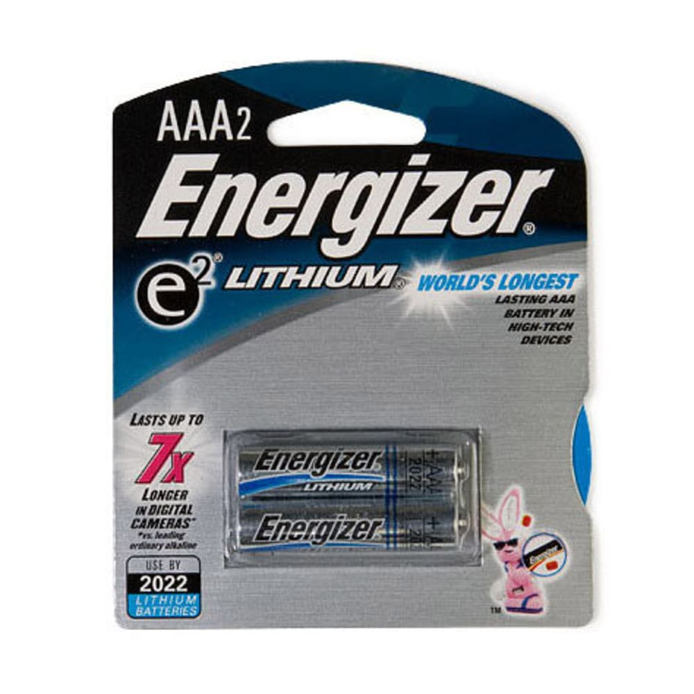 ENERGIZER AAA Lithium Batteries, 2-Pack - ONE