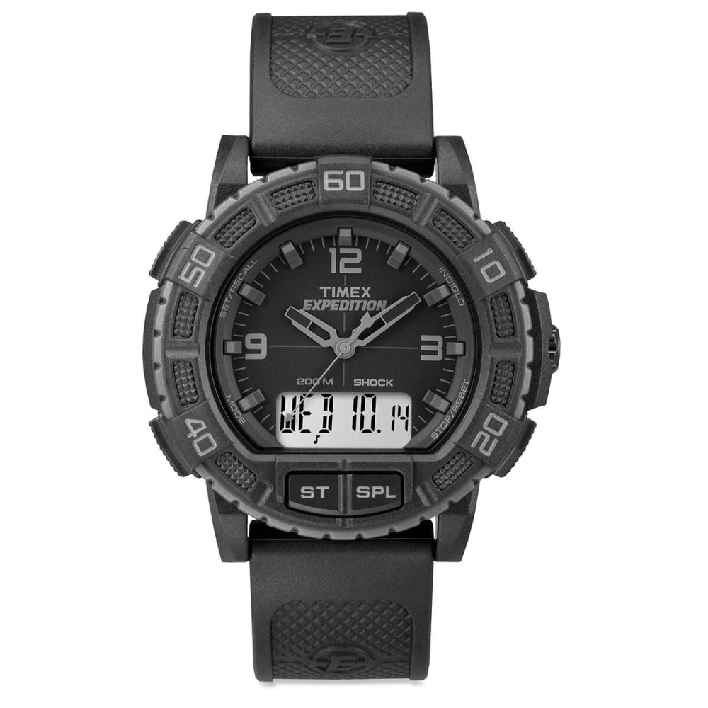 TIMEX Expedition Double Shock Blackout Watch - BLACK