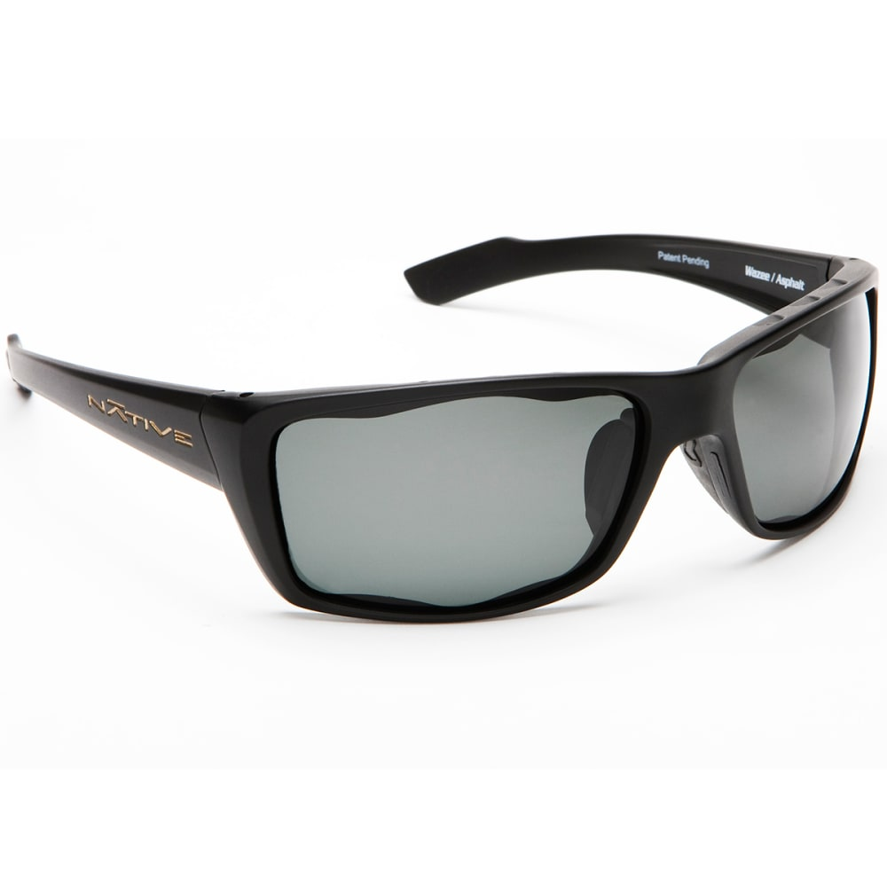 NATIVE EYEWEAR Wazee Polarized Sunglasses, Asphalt - BLACK