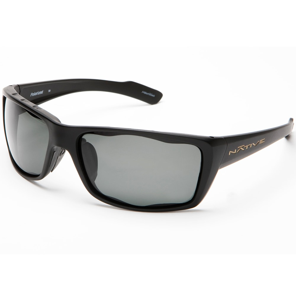 NATIVE EYEWEAR Wazee Polarized Sunglasses, Asphalt - ASPHALT/GRAY
