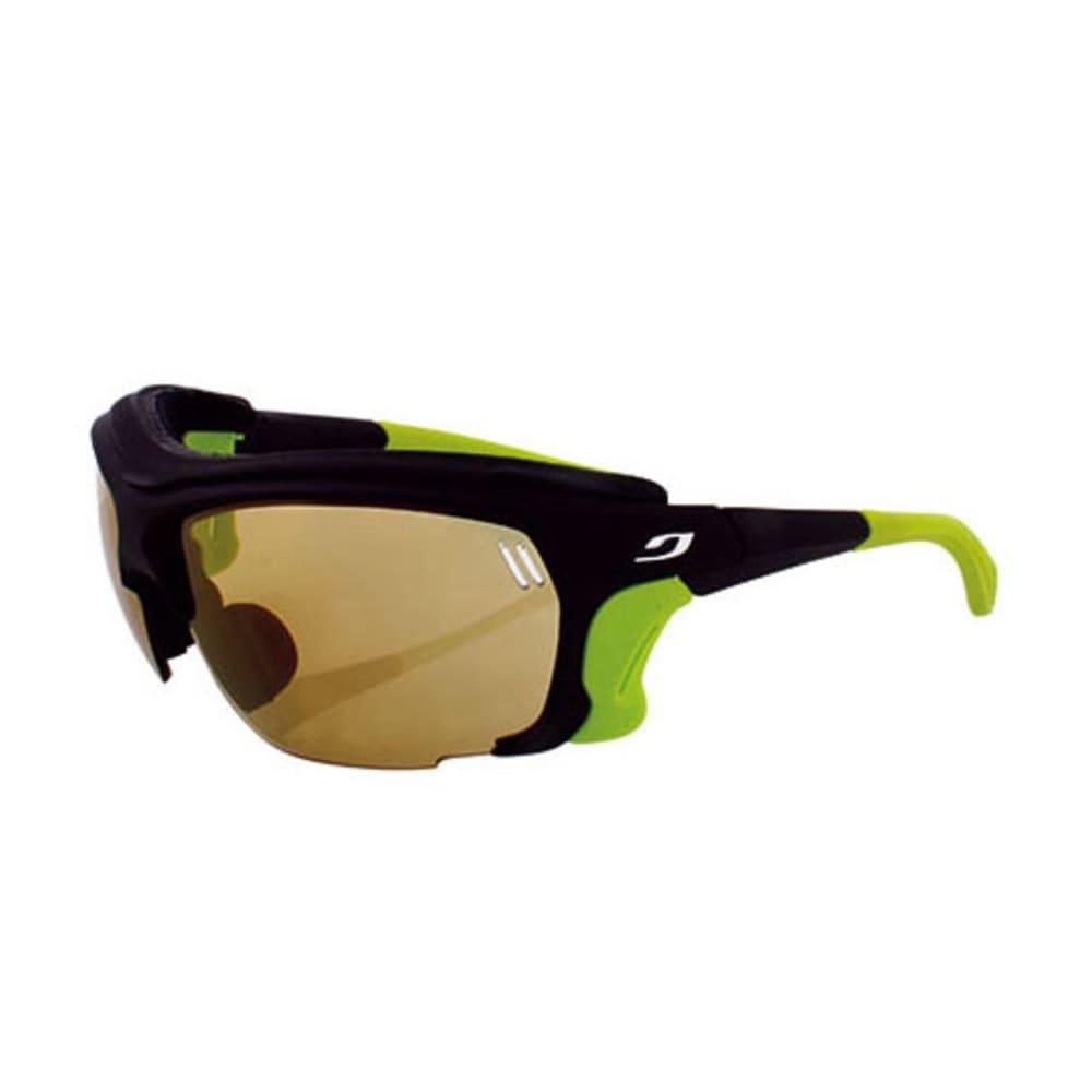 JULBO Trek Photochromic Sunglasses, Black/Lime - BLACK/LIME