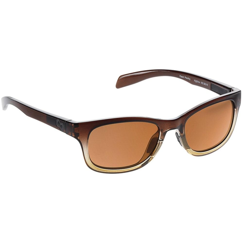 NATIVE EYEWEAR Highline Polarized Sunglasses - STOUT FADE/BROWN