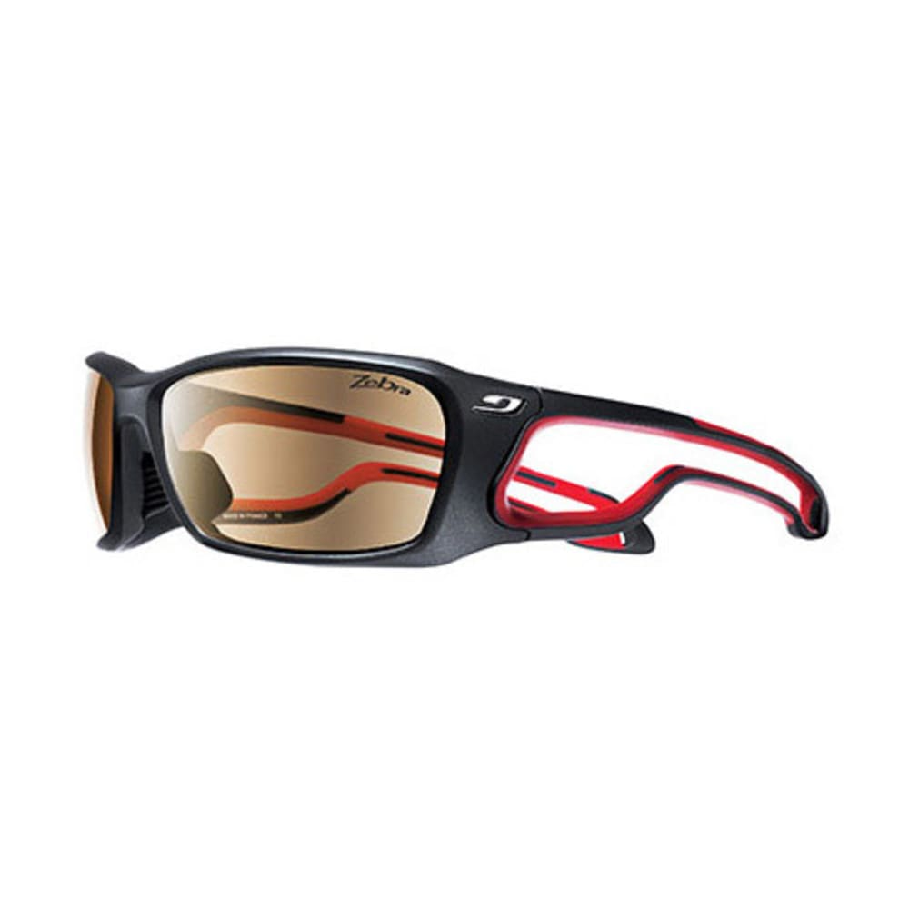 0a01d1f9db JULBO Pipeline Zebra Sunglasses, Matte Black/Red - MATTE BLACK/RED
