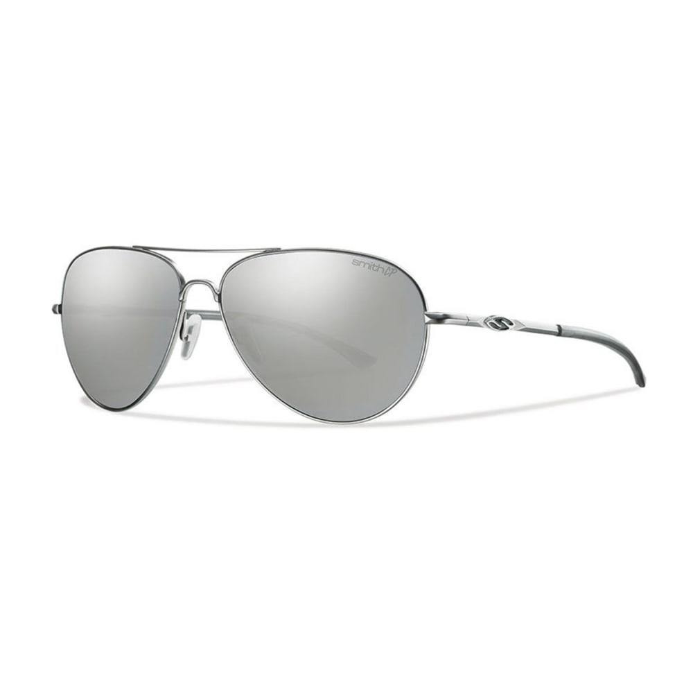 SMITH Audible Sunglasses, Matte Silver/Polar Gray - MATTE SILVER/POLAR P