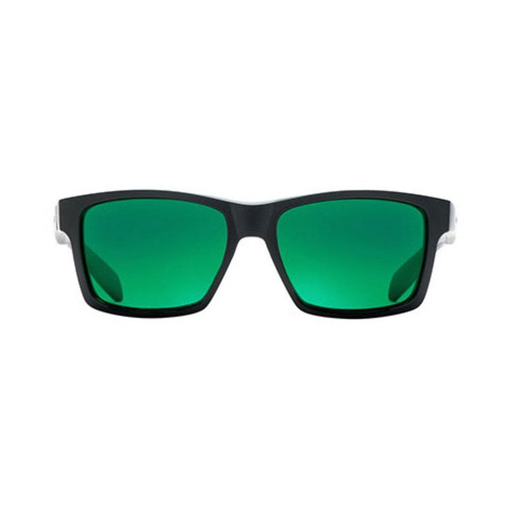 NATIVE Flatirons Sunglasses, Asphalt/Green Reflex - MATTE BLACK