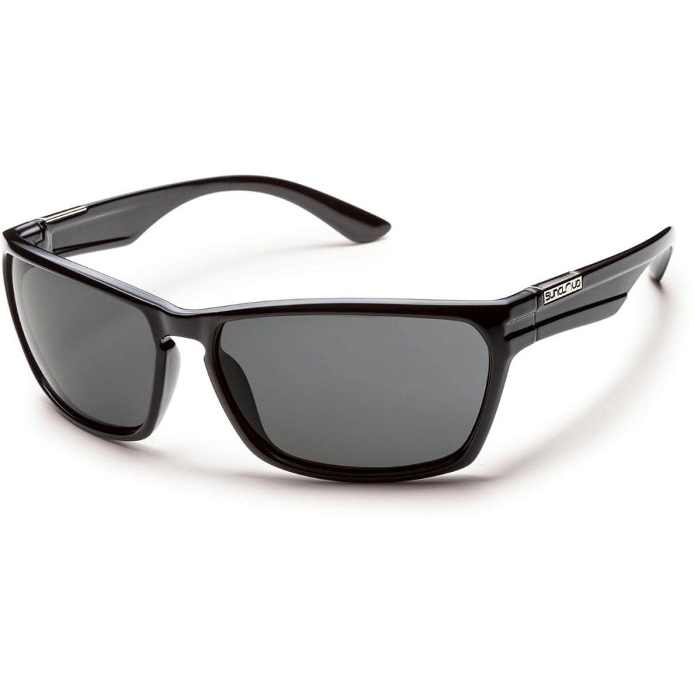 SUNCLOUD Cutout Sunglasses, Black/Grey - BLACK