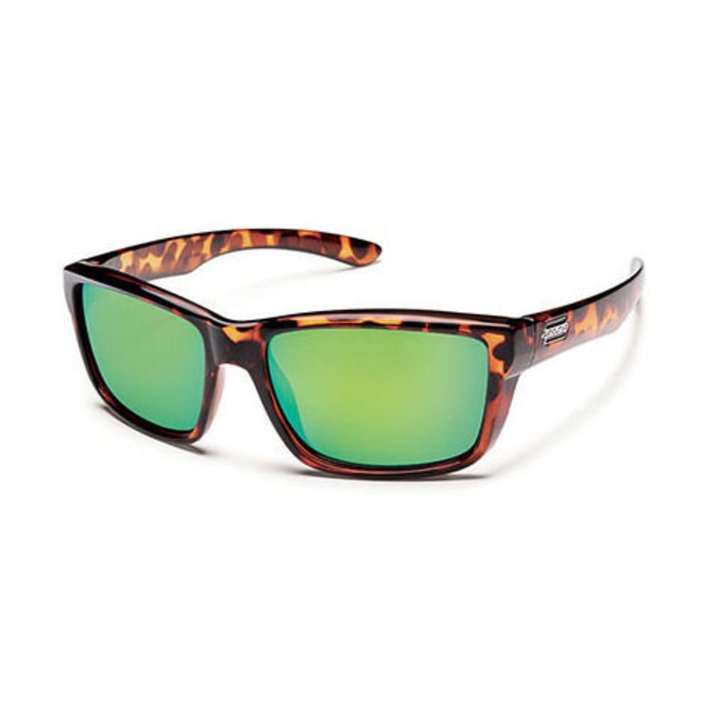 SUNCLOUD Mayor Sunglasses, Tortoise/Green Mirror - TORT/GREEN MIR POLAR