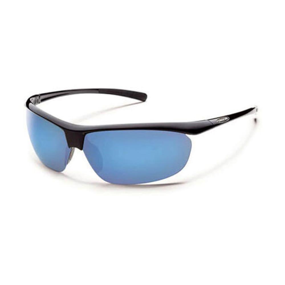 SUNCLOUD Zephyr Sunglasses, Black/Blue Mirror - BLACK/BLUE MIRROR