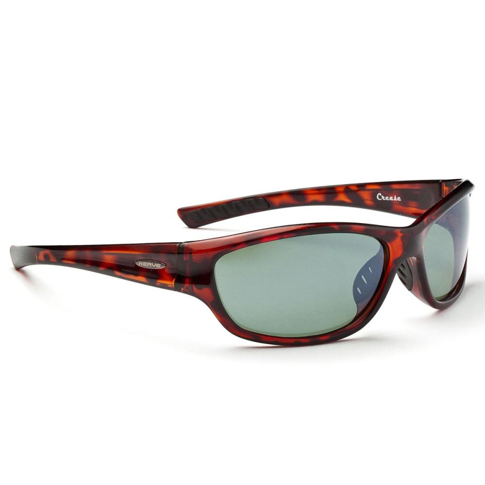 OPTIC NERVE Crease Sunglasses, Shiny Dark Demi - NONE