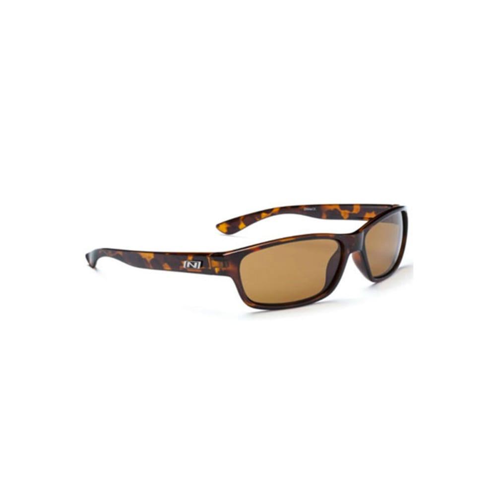 OPTIC NERVE Koger Sunglasses, Shiny Dark Demi - NONE