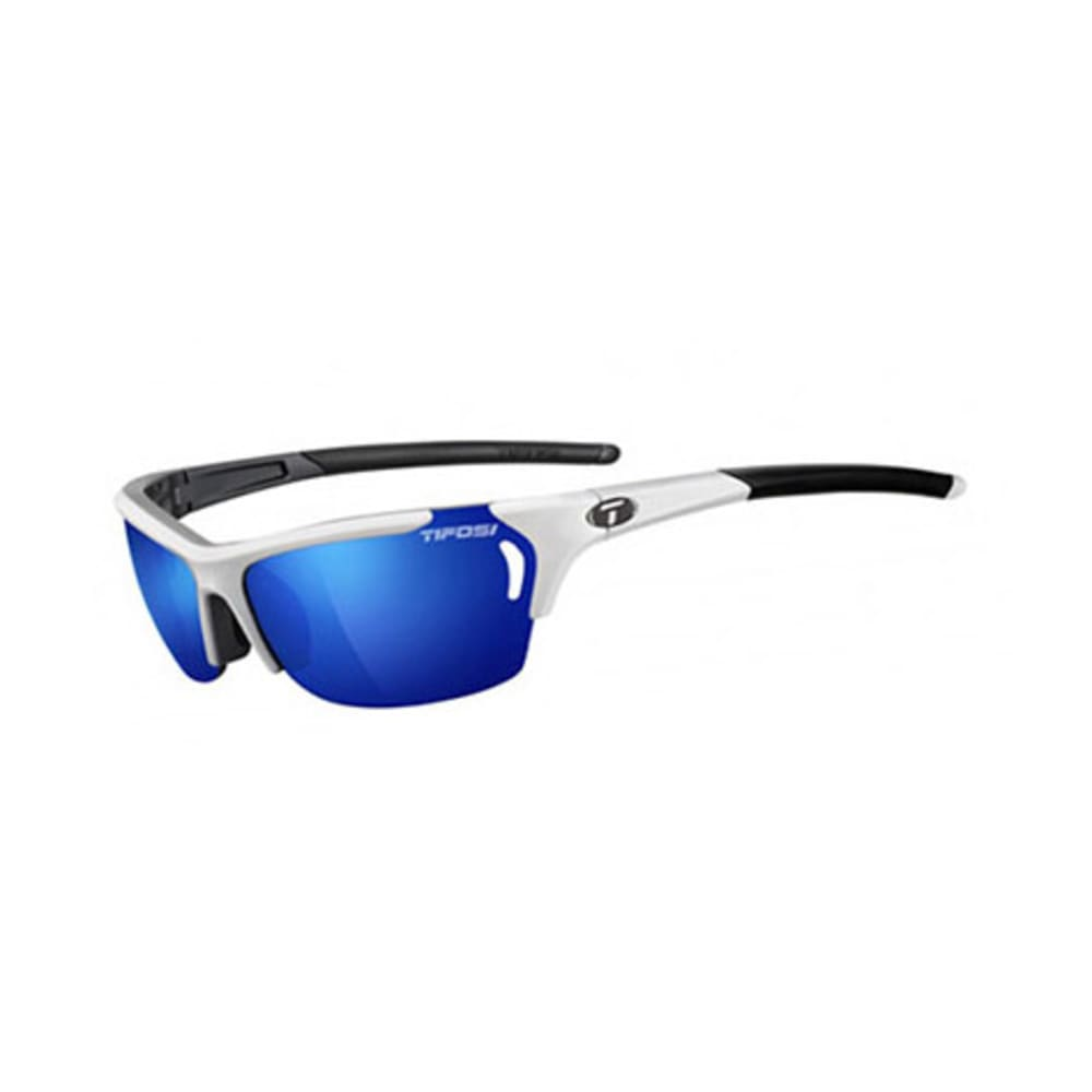 TIFOSI Women's Radius Sunglasses, White and Gunmetal/Clarion Blue - WHITE