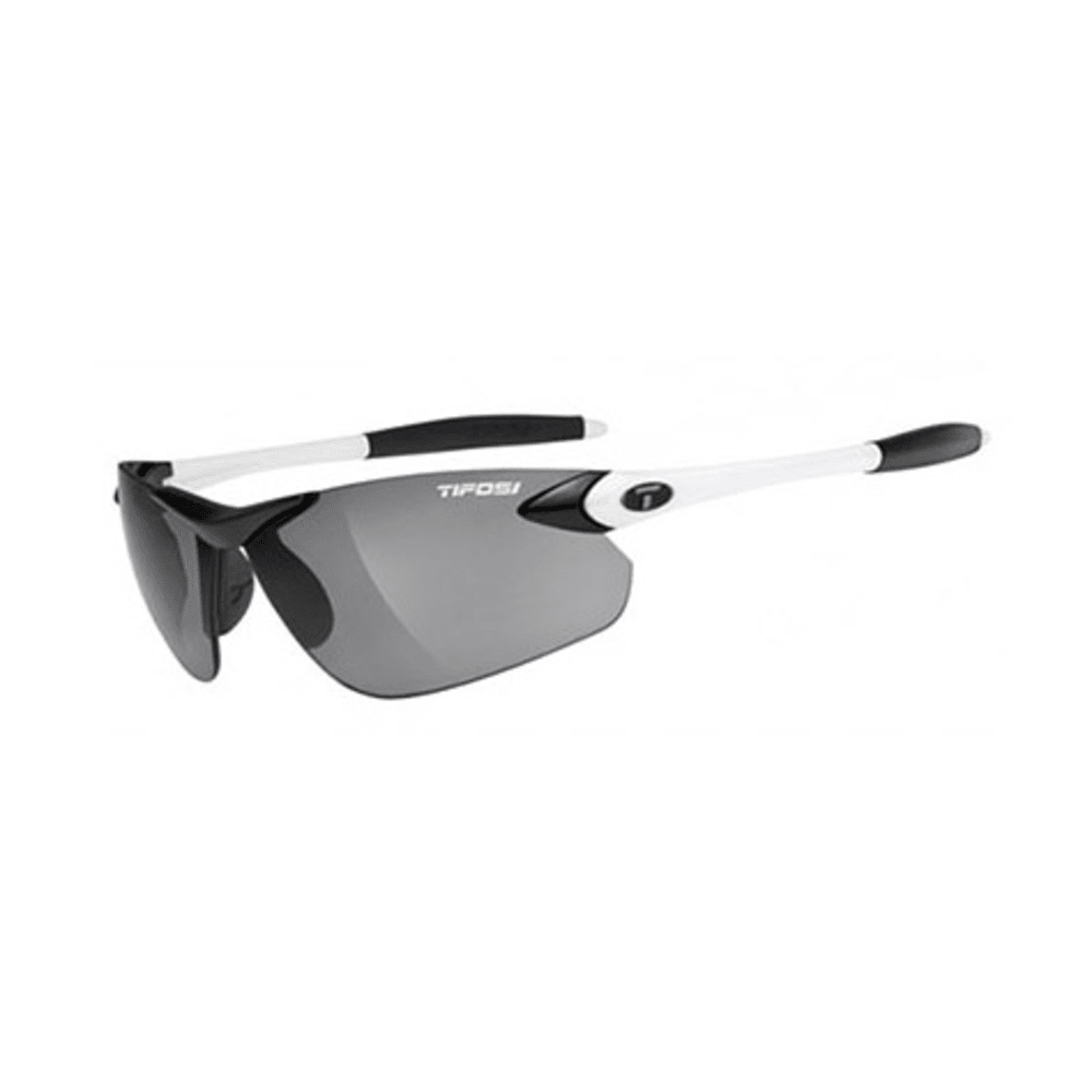 TIFOSI Seek FC Sunglasses, Black and White/Smoke - WHITE/BLACK