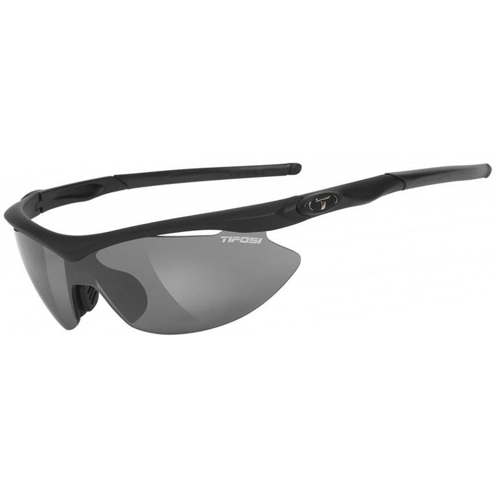 TIFOSI Slip Sunglasses, Carbon/High Speed Red - MATTE BLACK/SMOKE