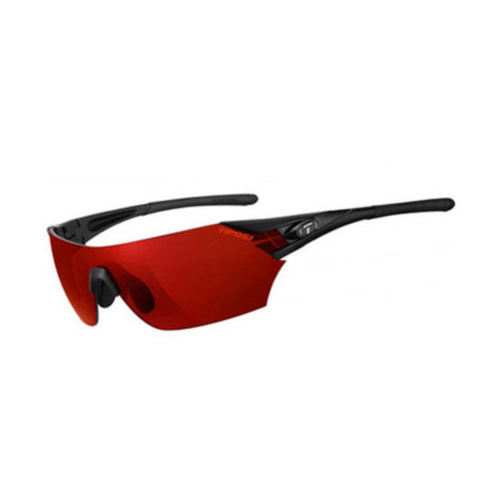 TIFOSI Podium Sunglasses, Matte Black/Clarion Red - MATTE BLACK