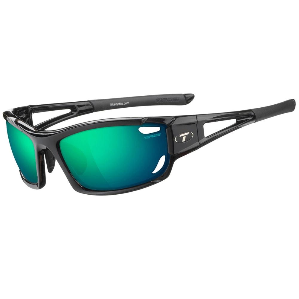 TIFOSI Dolomite 2.0 Sunglasses, Gloss Black/Green - GLOSS BLACK/GREEN