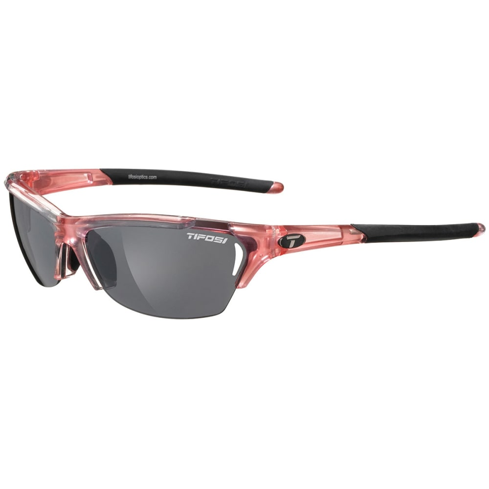TIFOSI Women's Radius Crystal Sunglasses, Crystal Pink/Smoke - CRYSTAL PINK/SMOKE