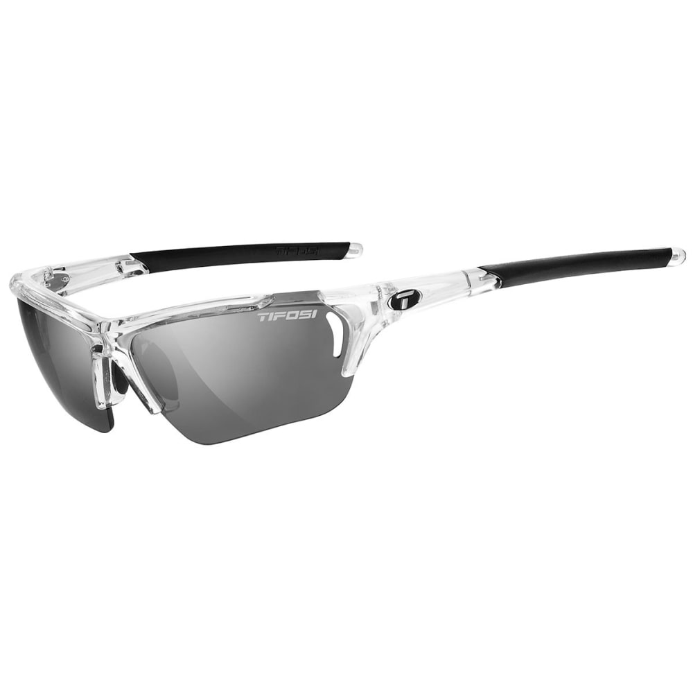 TIFOSI Women's Radius FC Sunglasses, Crystal Clear/Smoke - CRYSTAL CLEAR/SMOKE