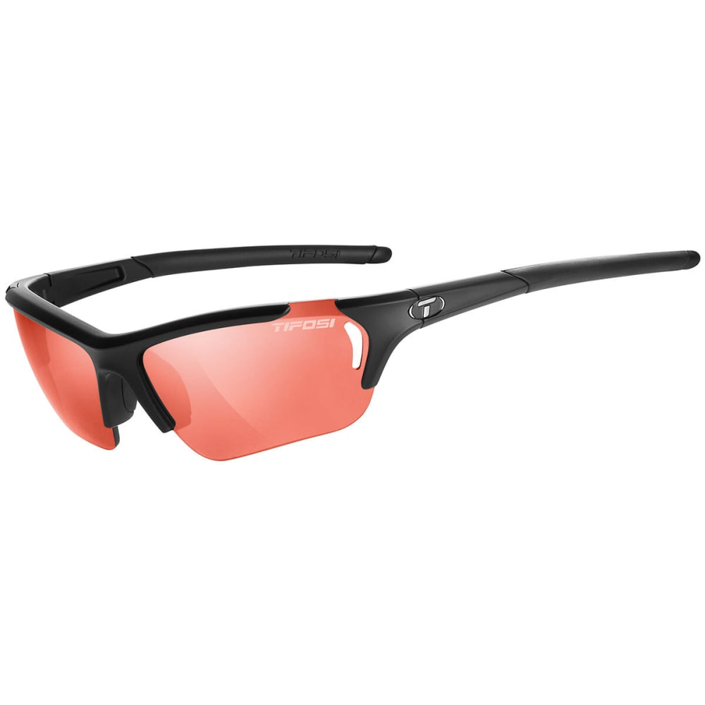 TIFOSI Women's Radius FC Sunglasses, Matte Black/High Speed Red Fototec - MATTE BLACK/RED