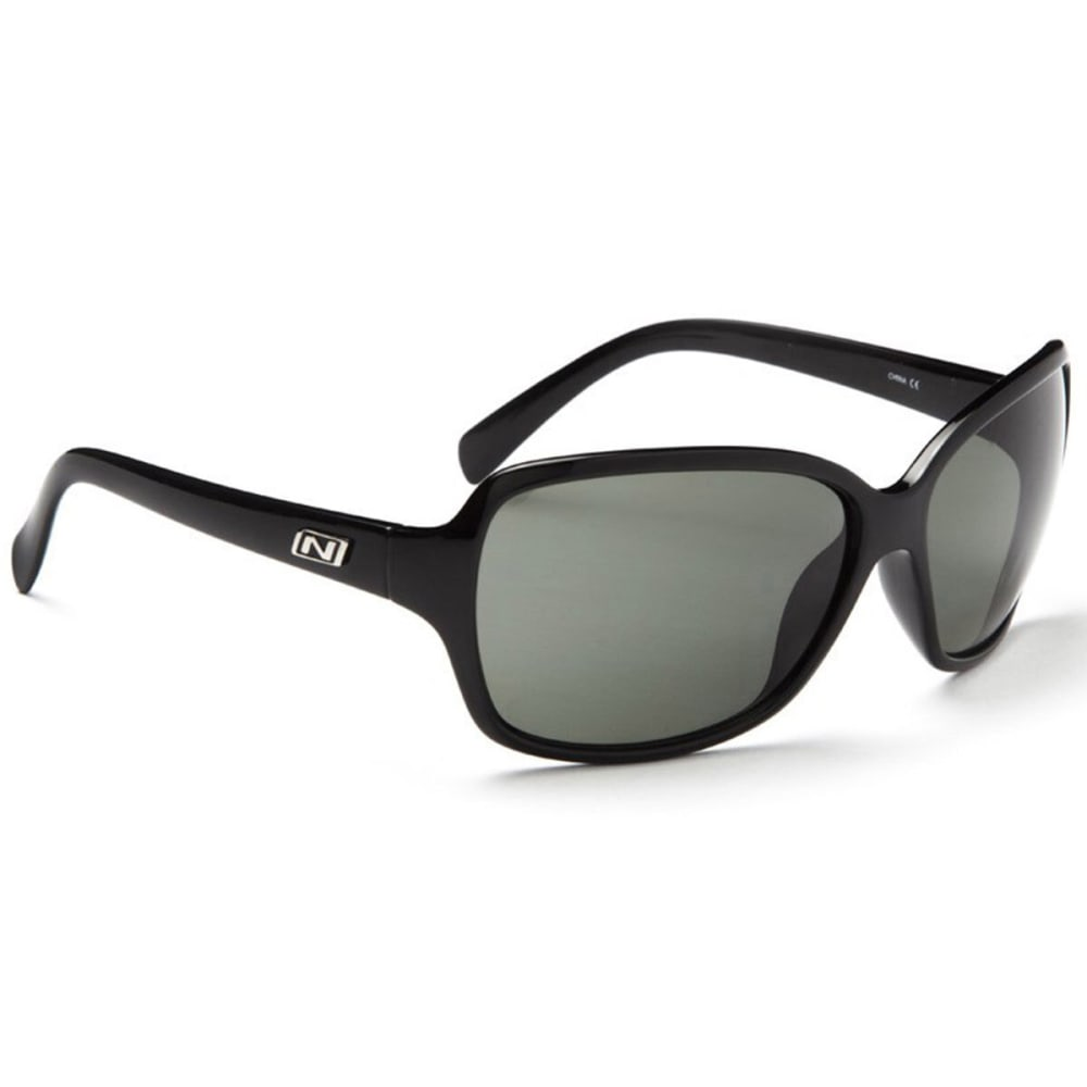 OPTIC NERVE Women's Elixer Sunglasses, Shiny Black/Polarized Smoke - SHINY BLACK