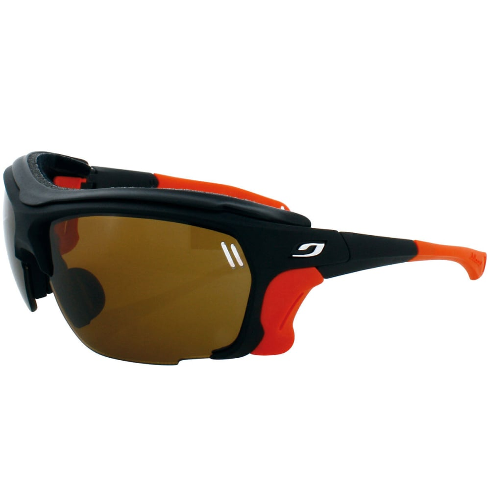 JULBO Trek Camel Sunglasses, Black/Orange - BLACK/ORG