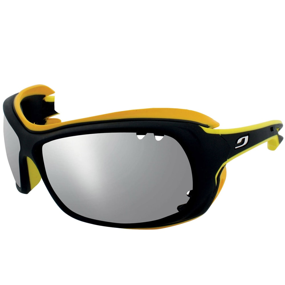 JULBO Wave Polarized 3+ Sunglasses, Black/Yellow - BLACK/YELLOW