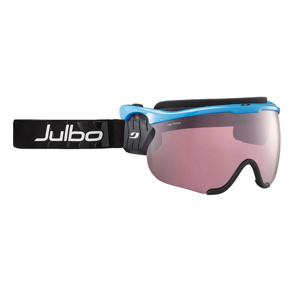 JULBO Sniper Interchangeable Snow Goggles, White/Black - BLUE/BLACK