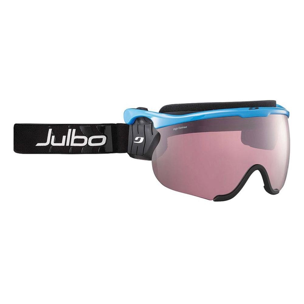 JULBO Sniper Interchangeable Snow Goggles, White/Black - BLUE/BLACK