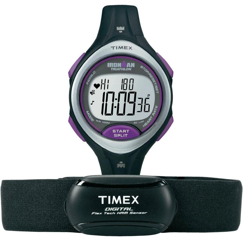 IRONMAN Timex Road Trainer Heart Rate Monitor - BLACK/PURPLE