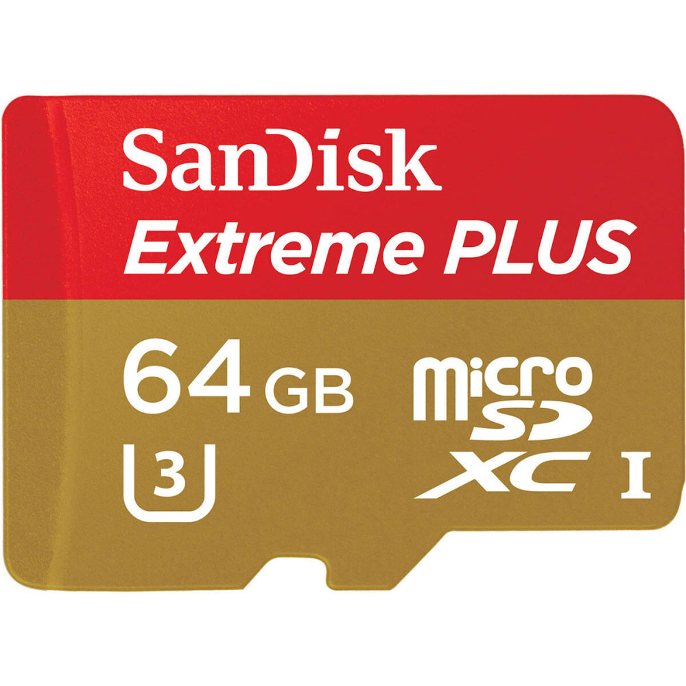 SANDISK Extreme Micro SDXC UHS-1 Memory Card, 64GB NO SIZE