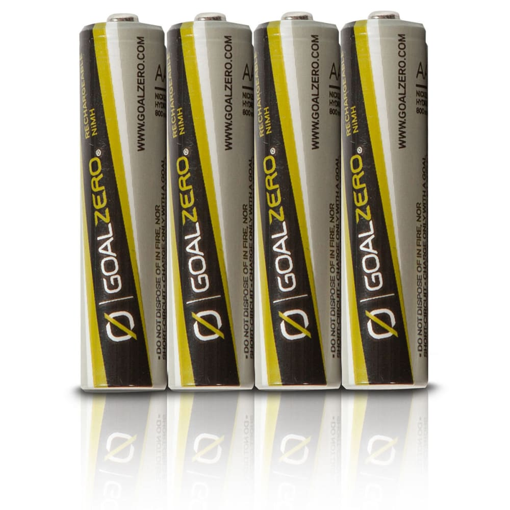 GOAL ZERO Rechargeable AAA Batteries w/Guide 10 Adapter - NONE