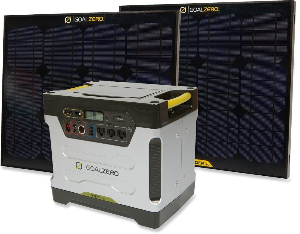 GOAL ZERO Yeti 1250 Solar Generator Kit - NONE