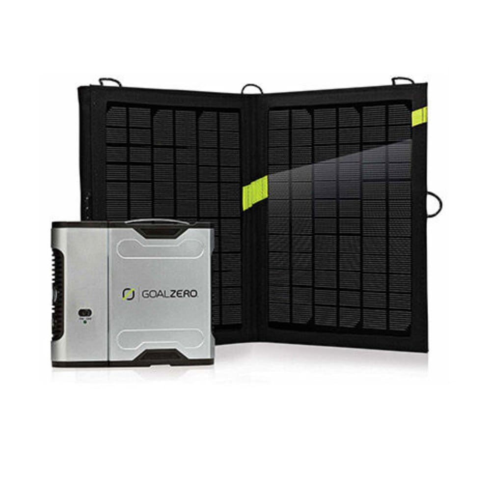GOAL ZERO Sherpa 50 Solar Recharging Kit with 110V Inverter - NONE