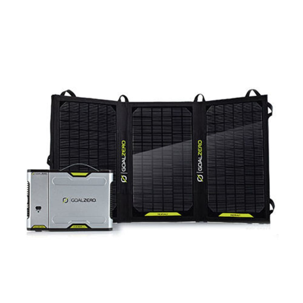 GOAL ZERO Sherpa 100 Solar Recharging Kit w/ Nomad 20 and 110V Inverter - NONE