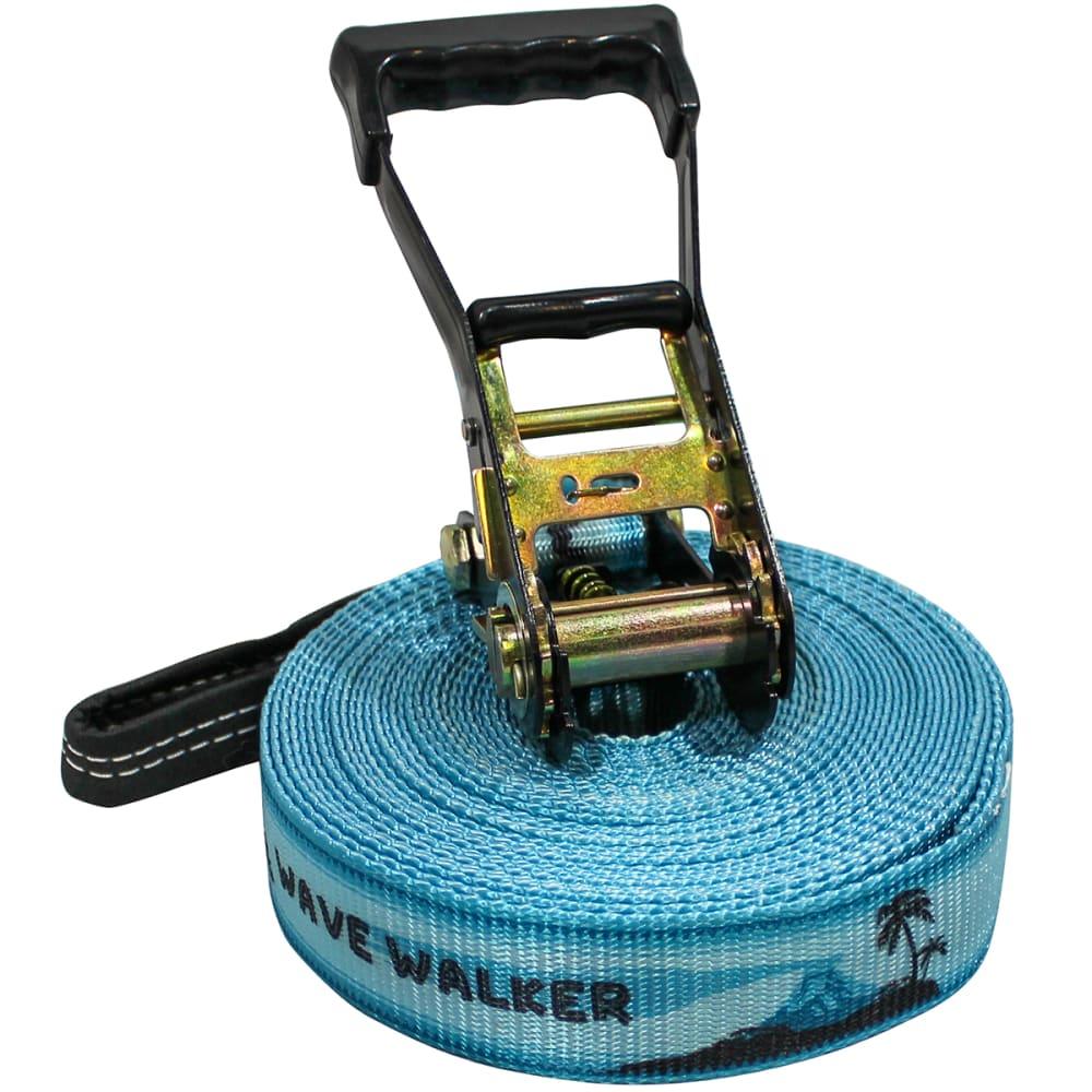 SLACKERS Slackline 50' Wave Walker Kit - BLUE
