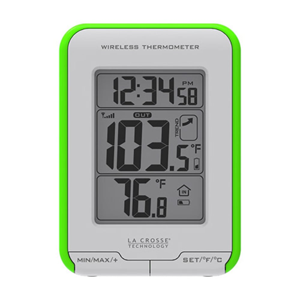LA CROSSE Wireless Thermometer - GREEN