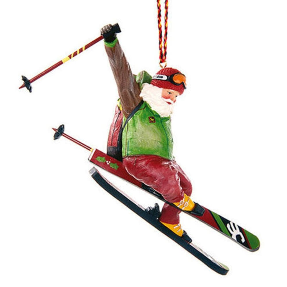 OUTSIDE INSIDE Free Ski Santa Tree Ornament - NONE