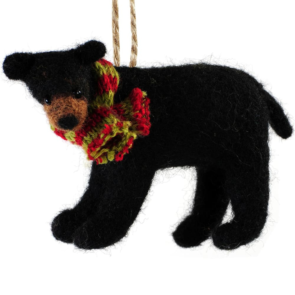 OUTSIDE INSIDE Felted Bear Ornament - NONE