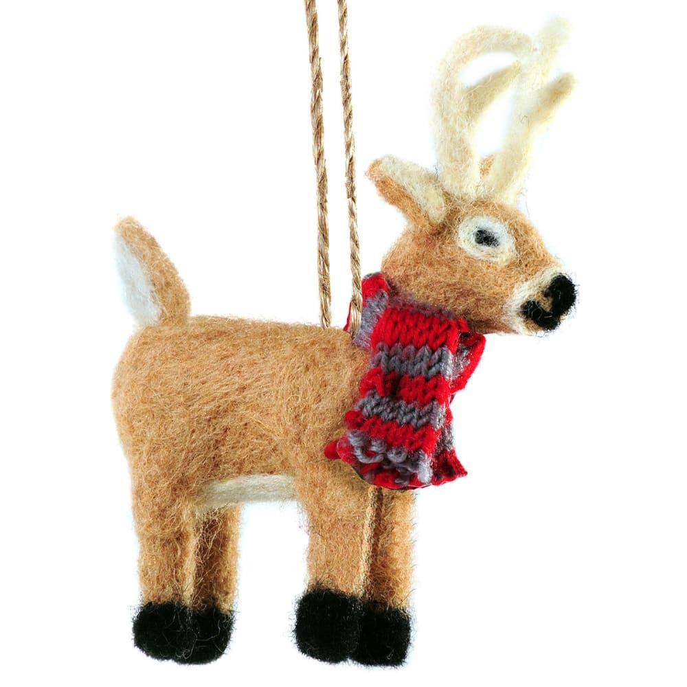 OUTSIDE INSIDE Felted Deer Ornament - NONE