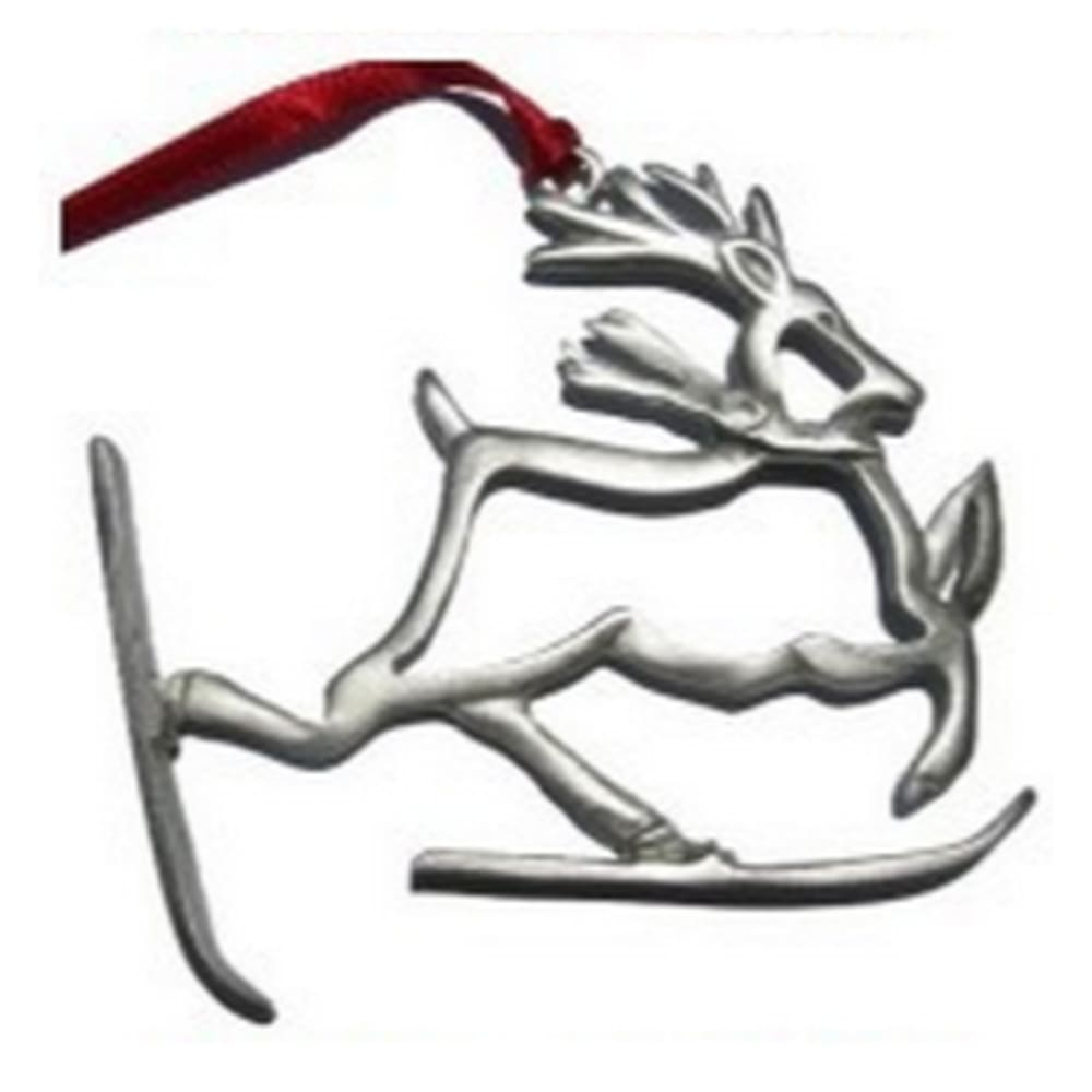 CREATIVELY YOURS Reindeer on Skis Ornament - NONE