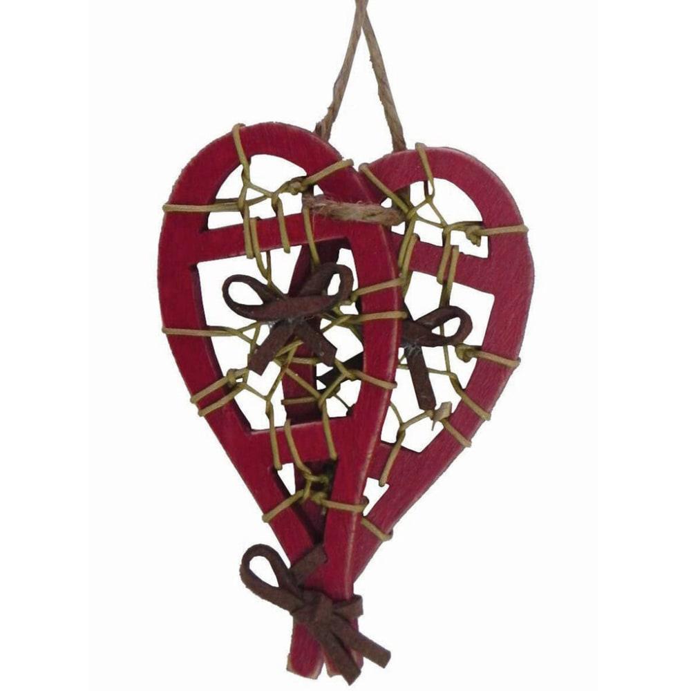 OUTSIDE INSIDE Wood Snowshoe Ornament - NONE