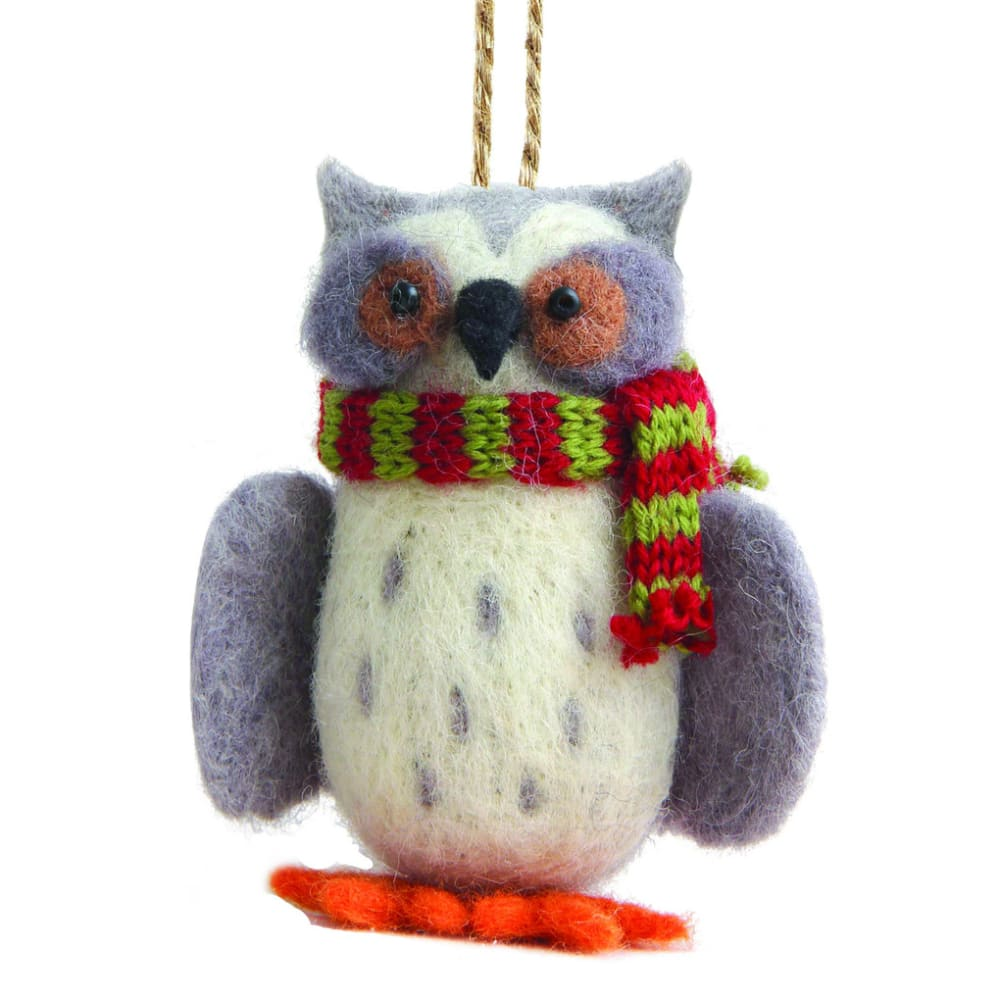 OUTSIDE INSIDE Felted Owl Ornament - NONE