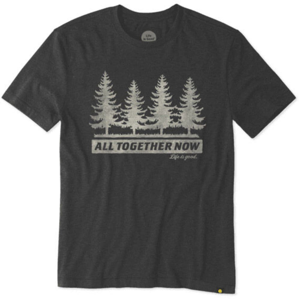 LIFE IS GOOD Men's All Together Now Cool Tee - NIGHT BLACK