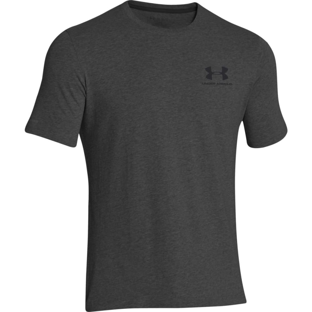 UNDER ARMOUR Men's Charged Cotton Tee - CARBON HEATHER-090