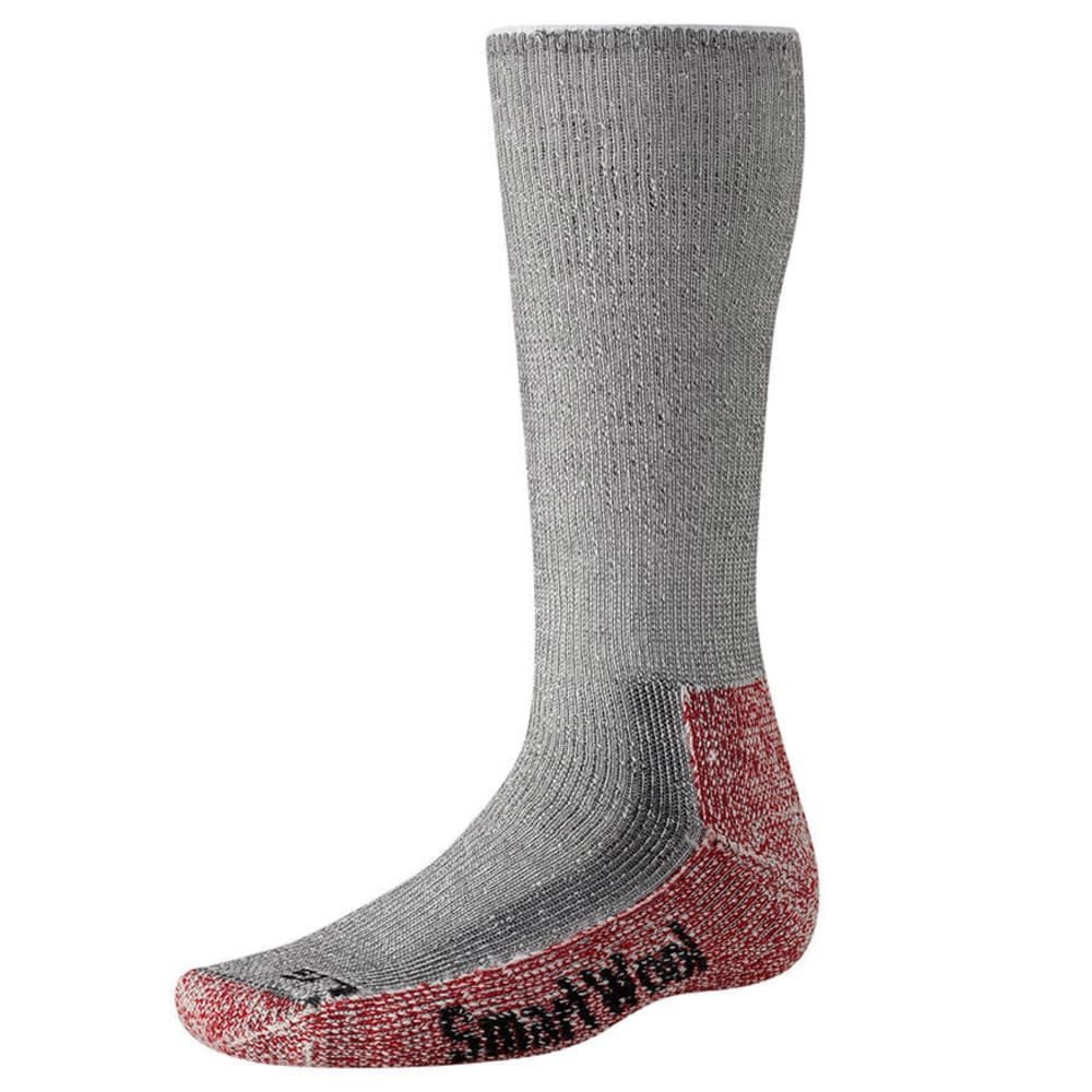 SMARTWOOL Men's Mountaineer Extra Heavy Crew Socks - CHARCOAL HEATHER-010