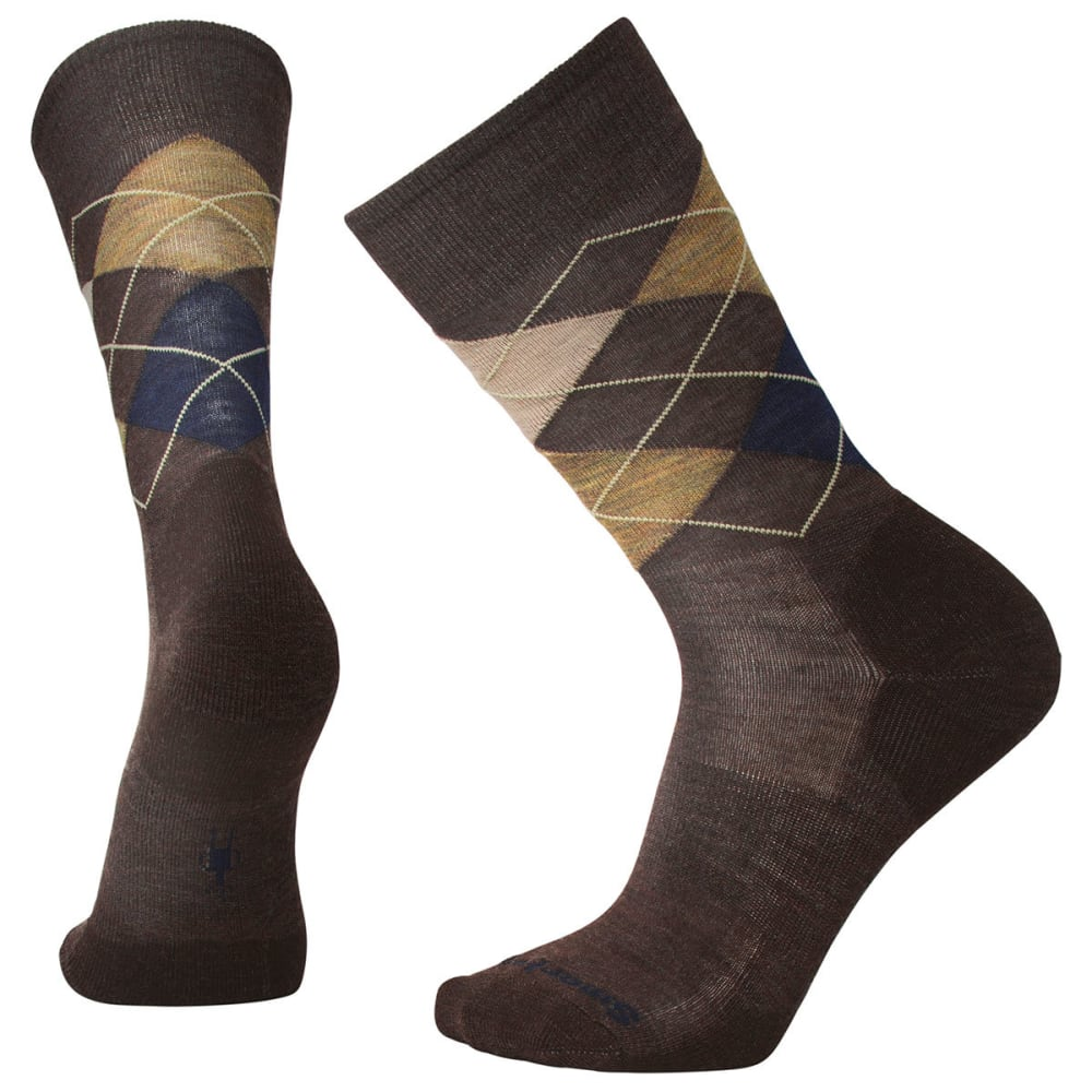 SMARTWOOL Men's Diamond Jim Socks - A46-CHESTNUT HEATHER